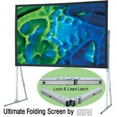 "Draper Ultimate Folding Screen with Heavy-Duty Legs, 100"" (62x83) Diagonal, Video Format, Flexible Matt White"